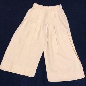 Gap wide leg ecru linen pants.
